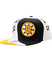 NHL Mitchell And Ness Bruins Swirl Black Snapback Hat