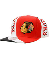 NHL Mitchell And Ness Chicago Blackhawks Swirl Snapback Hat