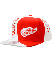 NHL Mitchell And Ness Detroit Red Wings Swirl Snapback Hat
