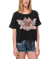 Insight Girls Birds Of Play Black Tee Shirt