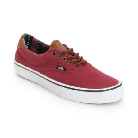 Vans Era 59 Tawny Port & Guate Canvas Shoe