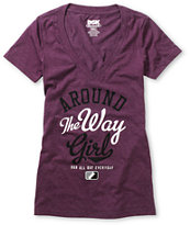 DGK Girls Around The Way Puprle V-Neck Tee Shirt