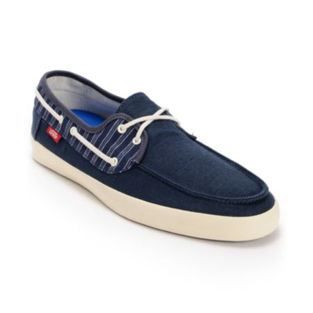 Vans Chauffeur Navy Blue & Antique White Boat Shoe