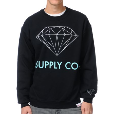 Diamond Supply Co. Black Crew Neck Sweatshirt