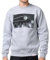 Diamond Supply Clarity Heather Grey Crew Neck Sweatshirt