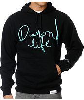 Diamond Supply Diamond Life Script Black Pullover Hoodie