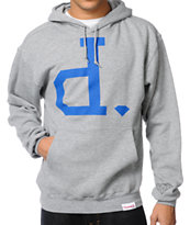 Diamond Supply Big Unpolo Heather Grey Pullover Hoodie