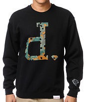 Diamond Supply Camo Unpolo Black Crew Neck Sweatshirt
