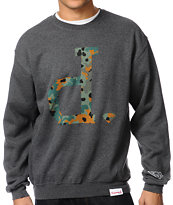 Diamond Supply Camo Unpolo Charcoal Crew Neck Sweatshirt