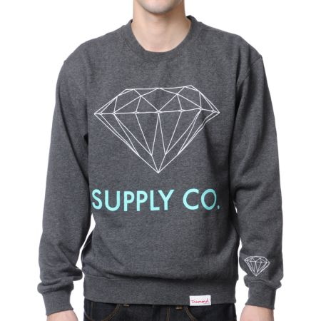 Diamond Supply Charcoal Crew Neck Sweatshirt