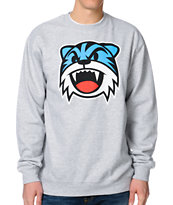 Neff Sabertooth Grey Crew Neck Sweatshirt