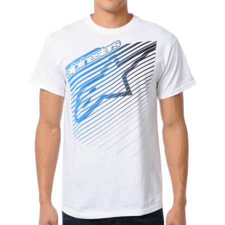 Alpinestars Eclipse White Tee Shirt