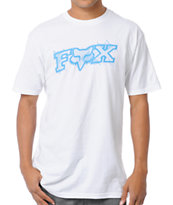 Fox Gridliner White Tee Shirt