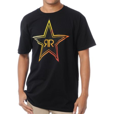 Fox x Rockstar Fades Black Tee Shirt