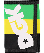 DGK Intly Known Green, Yellow, & Black Tri-Fold Wallet