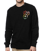 LRG Strictly 4 The Roots Long Sleeve Black Shirt