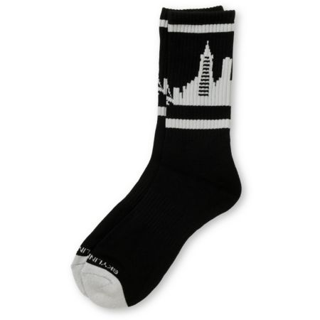 Skyline Socks San Francisco Black & Grey Crew Socks