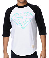 Diamond Supply Diamond Lifer Black & White Baseball Tee Shirt