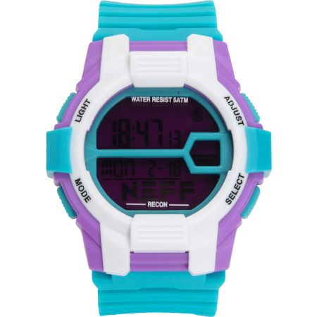 Neff Recon Teal & Purple Digital Watch
