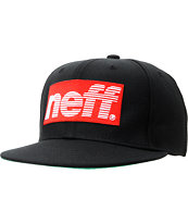 Neff Sportsfade Black & Red Snapback Hat