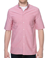 Diamond Supply Oxford Red Woven Button Up Shirt