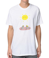 Summer Teeth Basking For It White Tee Shirt