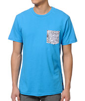 Volcom Inverted Strange Blue Pocket Tee Shirt