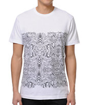 Volcom Pattern Nation White Pocket Tee Shirt