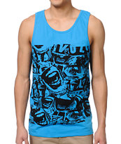 Volcom Pattern Nation Blue Pocket Tank Top
