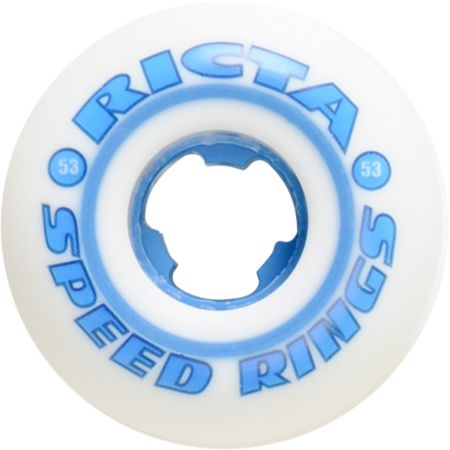 Ricta Speedrings White 53mm Skateboard Wheels