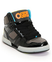Osiris Kids NYC 83 SE Black & Heat Factor Skate Shoes