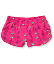 Volcom Girls Ride Easy Pink Beach Shorts