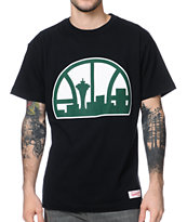 Mitchell & Ness Sonics Kamikaze Retro Black Tee Shirt
