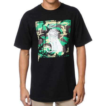 The Gro Project Camo Lion Black Tee Shirt