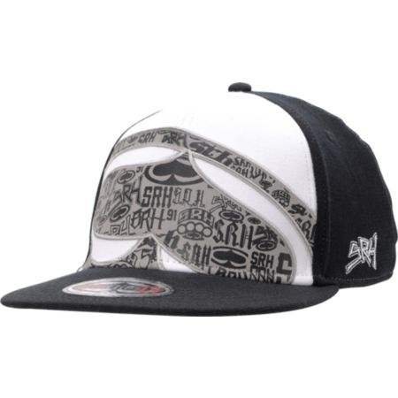SRH Stacked Black & White Flexfit Hat