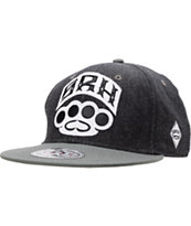 SRH Tactics Black, Grey & White Snapback Hat