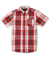 Empyre Boys Wolf Gang Red Plaid Button Up Shirt