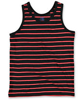 Zine Boys Dantes Black & Red Stripe Tank Top