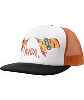 RVCA Board to Death Snapback Black & Orange Trucker Hat