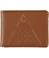 RVCA Base Brown Bifold Wallet