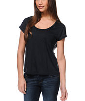 Empyre Finnley Black Chiffon Back Shirt