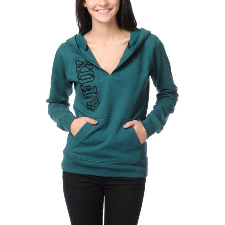 Fox Girls Equivalent Emeral Teal Pullover Hoodie