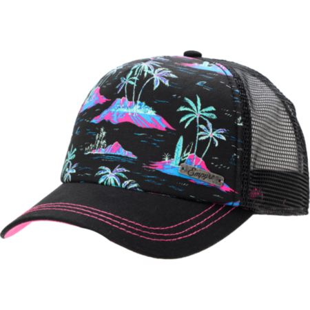 Empyre Girls Tropical Black Trucker Snap Back Hat