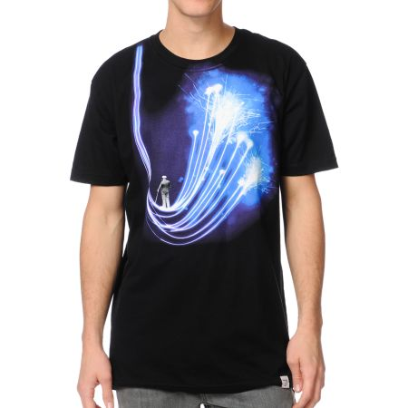 Imaginary Foundation Arc Black Tee Shirt