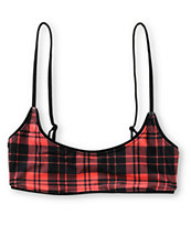 Beach Riot Flannel Plaid Bralette Bikini Top