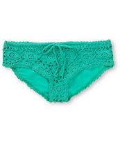 Beach Riot Cherokee Mint Green Crochet Bikini Bottom