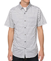 Empyre Wombats White Stripe Button Up Shirt