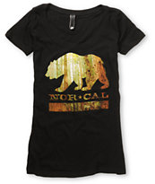 Nor Cal Girls Redwood Bear Black Tee Shirt