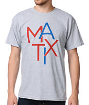 Matix Scatter Heather Grey Tee Shirt