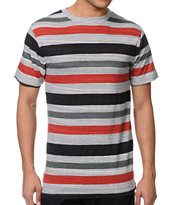 Zine Slightly Sick Black Stripe Tee Shirt